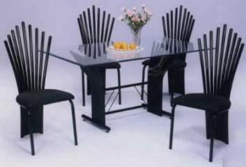 Metal/Wood Dining Set