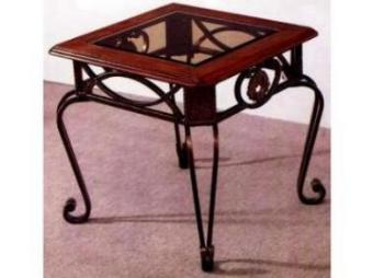 Steel/Wood End Table