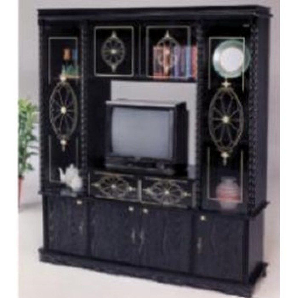 10000-81TV Wood Wall Unit