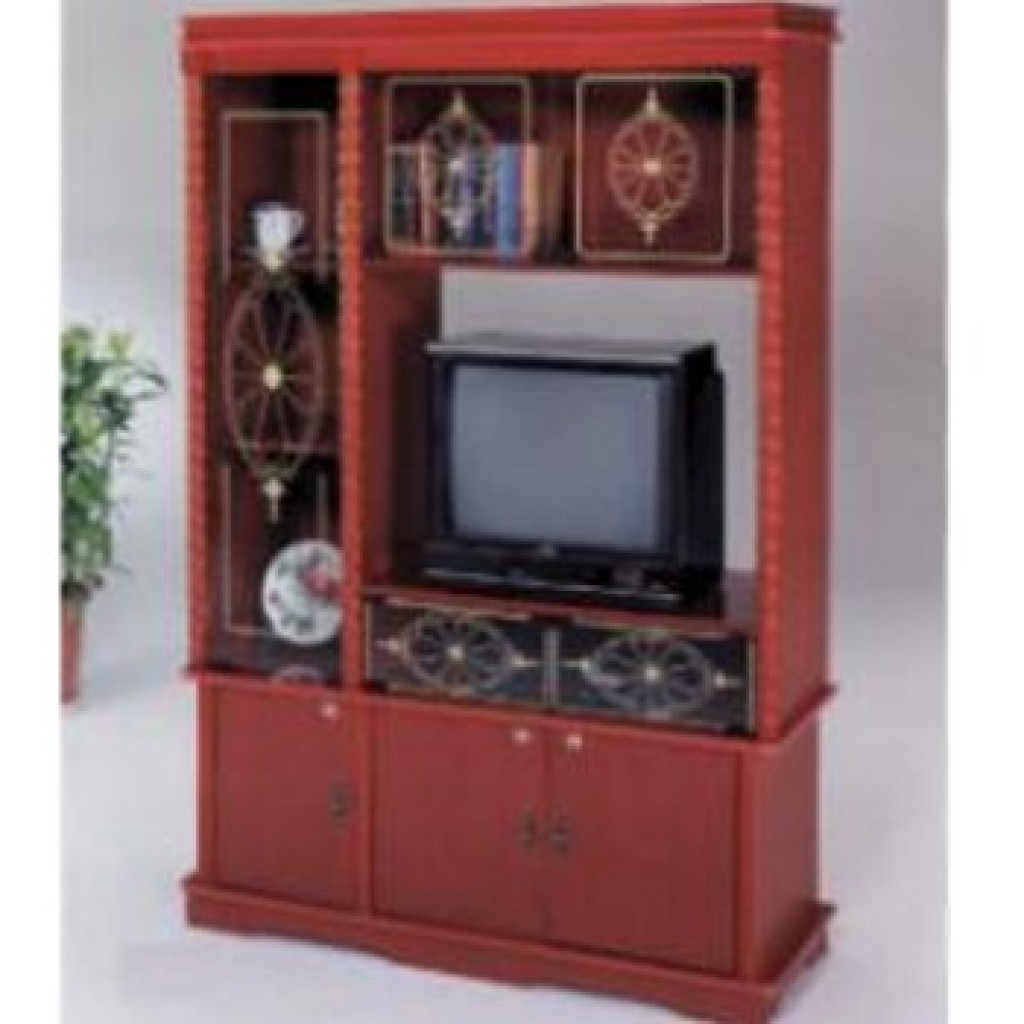 10000-83TV Wood Wall Unit
