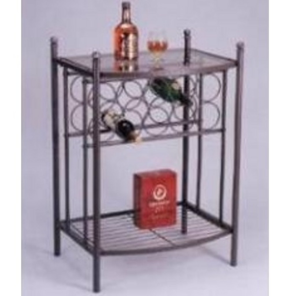 10012-B229W Metal Wine Rack