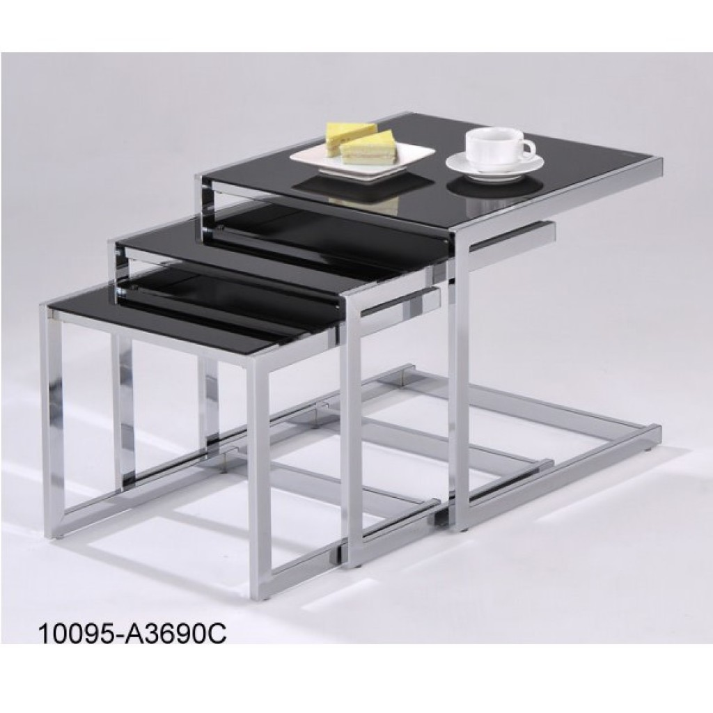 10095-A3690C Metal Nest Table