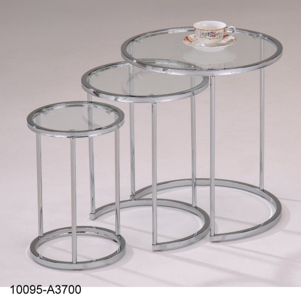 10095-A3700C Metal Round Nest Table