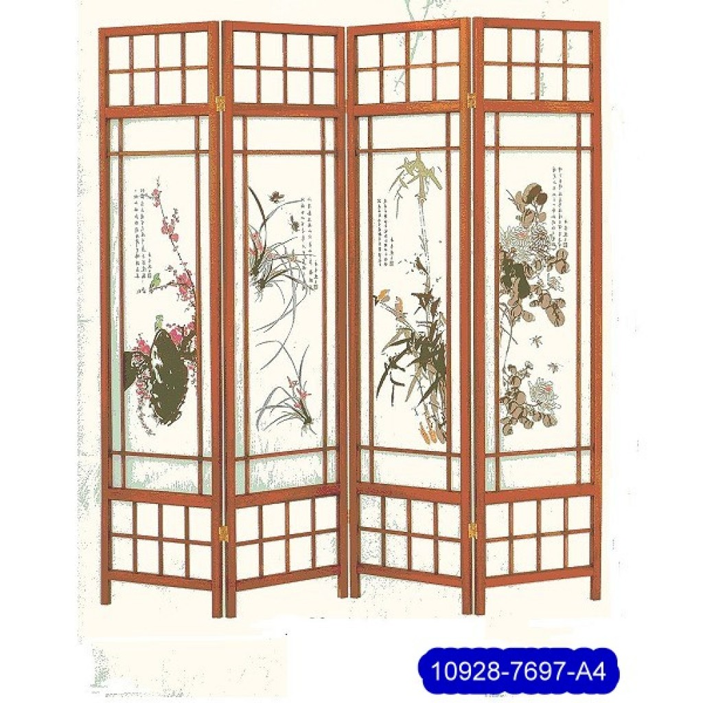 SF-7697-P4 Solid Wood Screen
