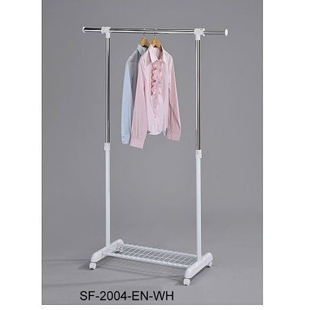 10936-2004-EN-WH Single Clothes Hanger
