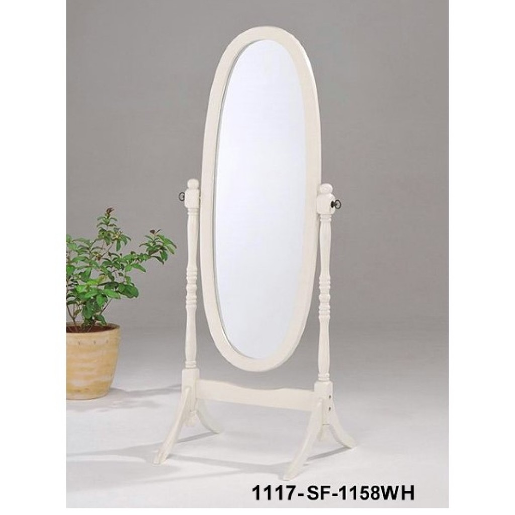 1117-1158WH Wooden Mirror Stand