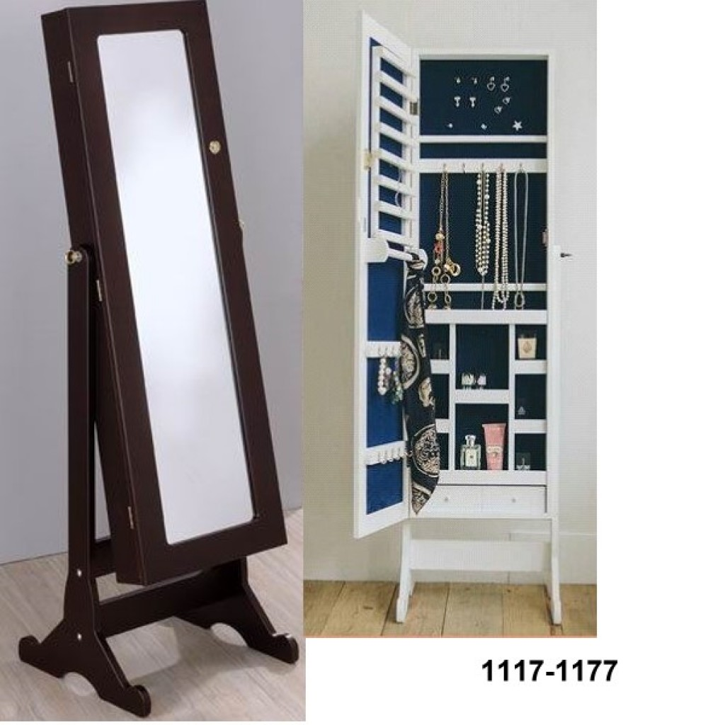 1117-1177 Wooden Jewelry Mirror Cabinet