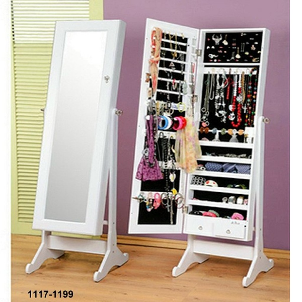 1117-1199 Wooden Jewelry Mirror Cabinet