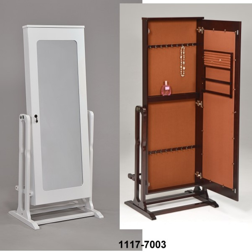 1117-7003 Wooden Jewelry Mirror Cabinet