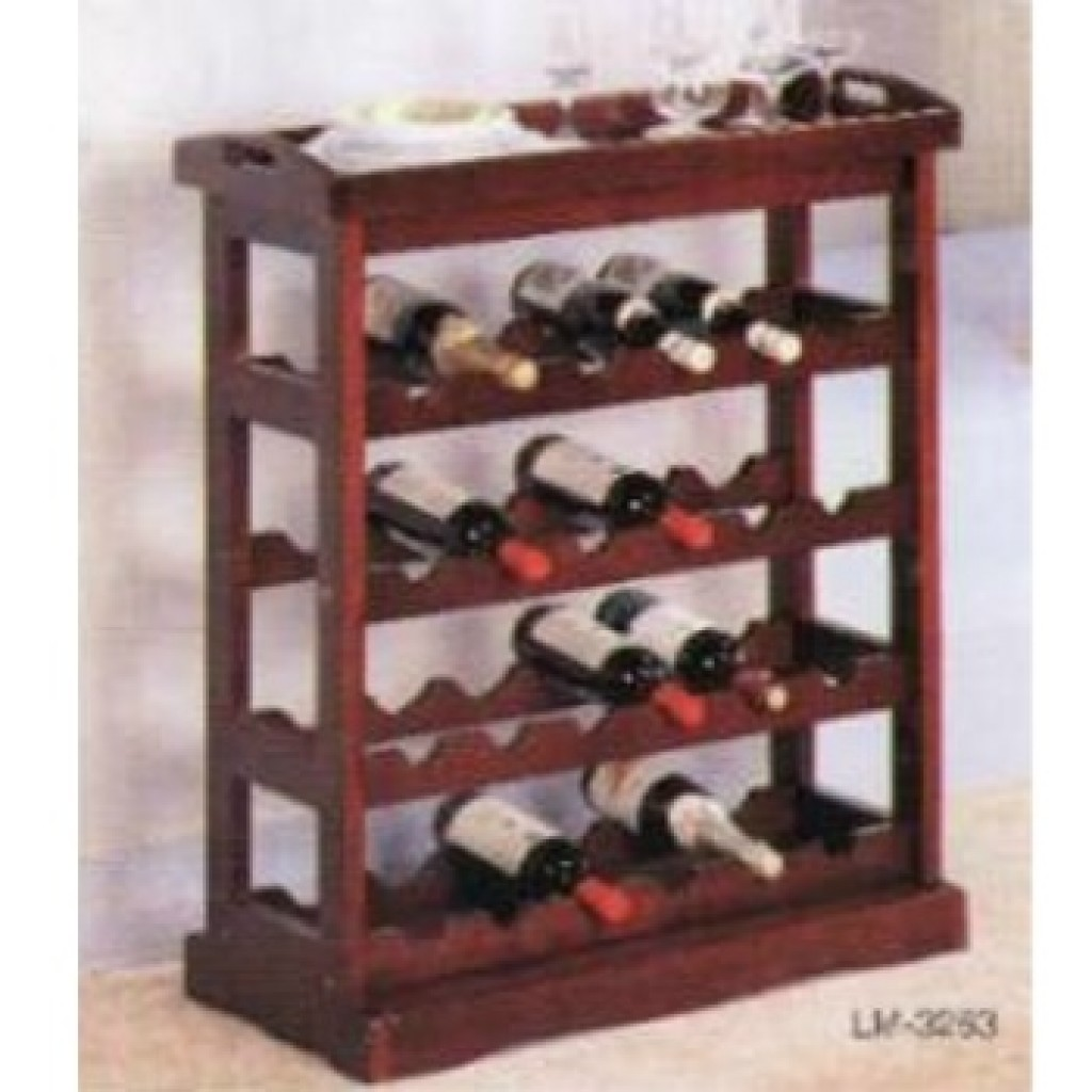 1123-3263 Wooden Wine Rack