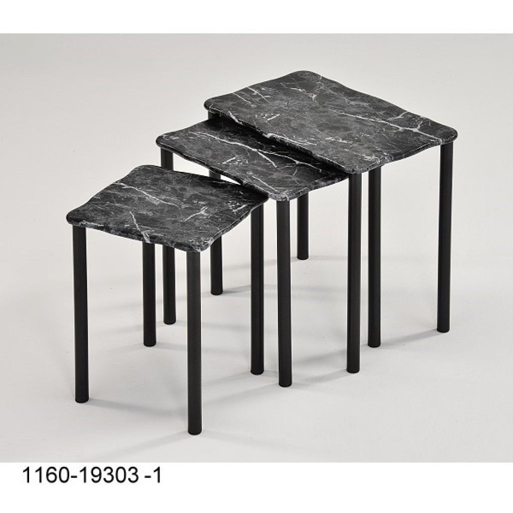 1160-19303-1 wood/metal 3pcs Nest table