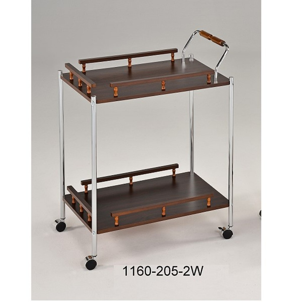 1160-205-2W Wooden/Metal  Tea Trolley