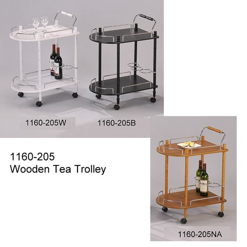 1160-205 Wooden Tea Trolley