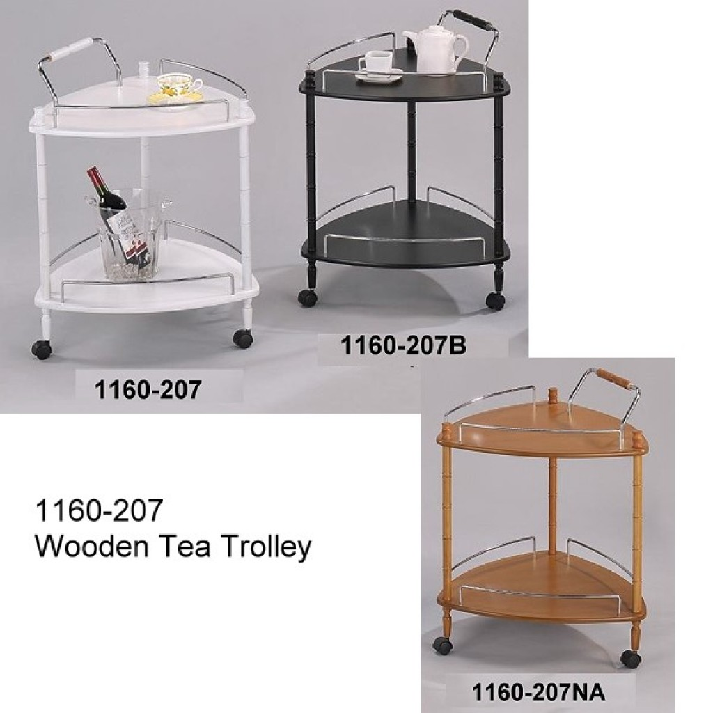 1160-207 Corner Wooden  Tea Trolley