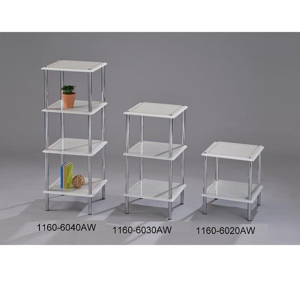 1160-6040-AW Wooden / Metal  4 Tier Rack