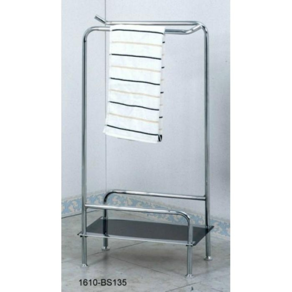 11610-BS135  Towel stand w/Glass shelf