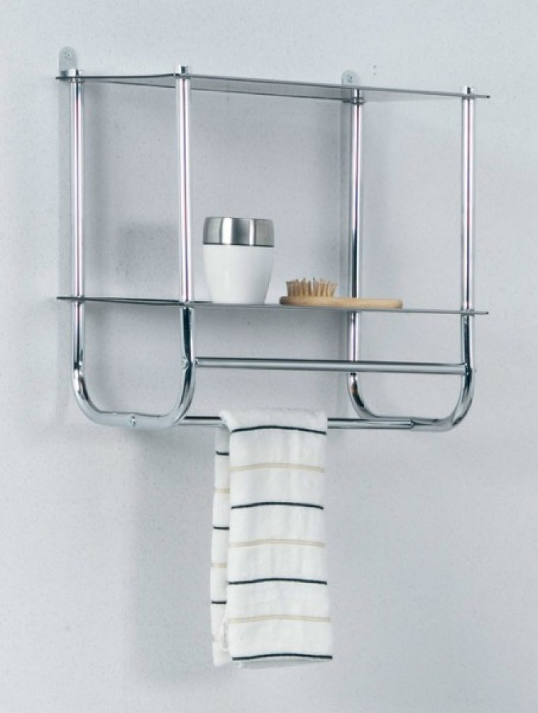 11610-131 Wall mounted 2 tier Glass wall rack