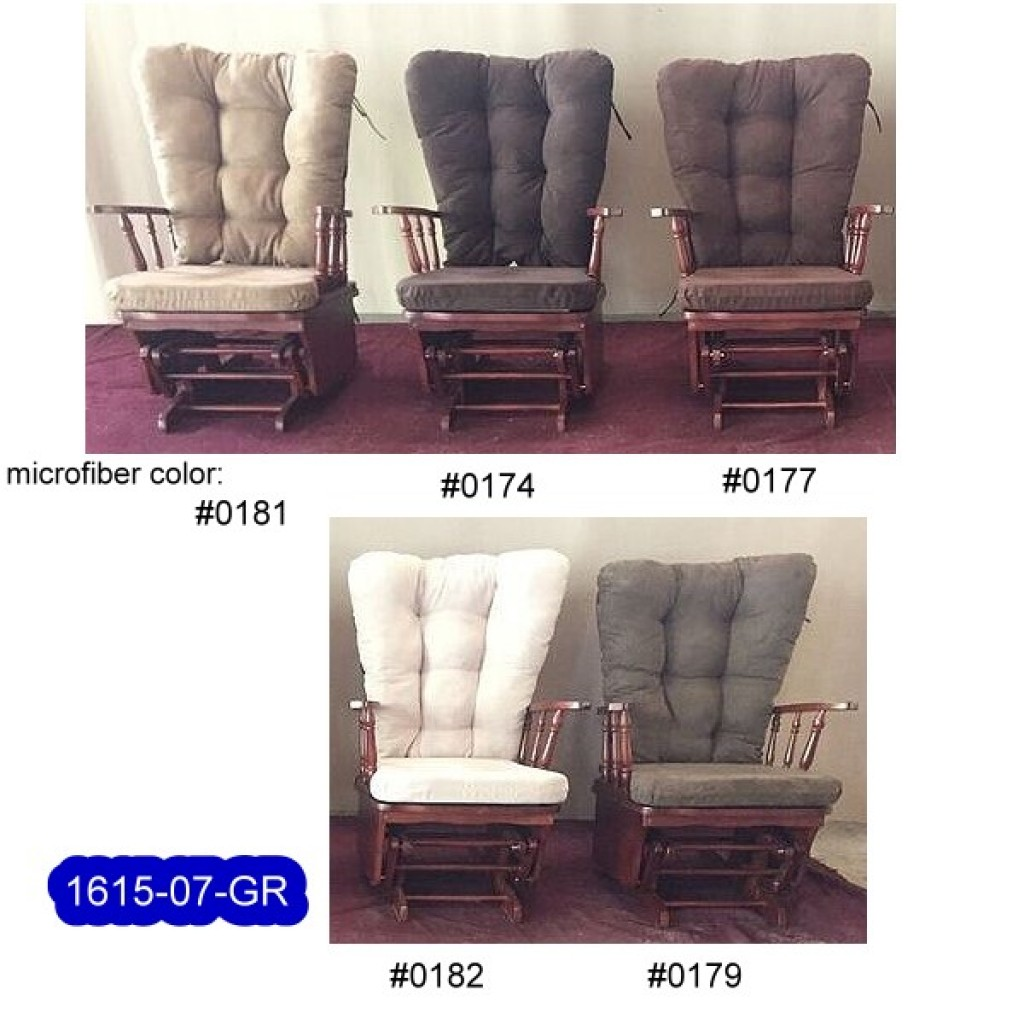 1615-07-GR Solid Wood Glider Rocker