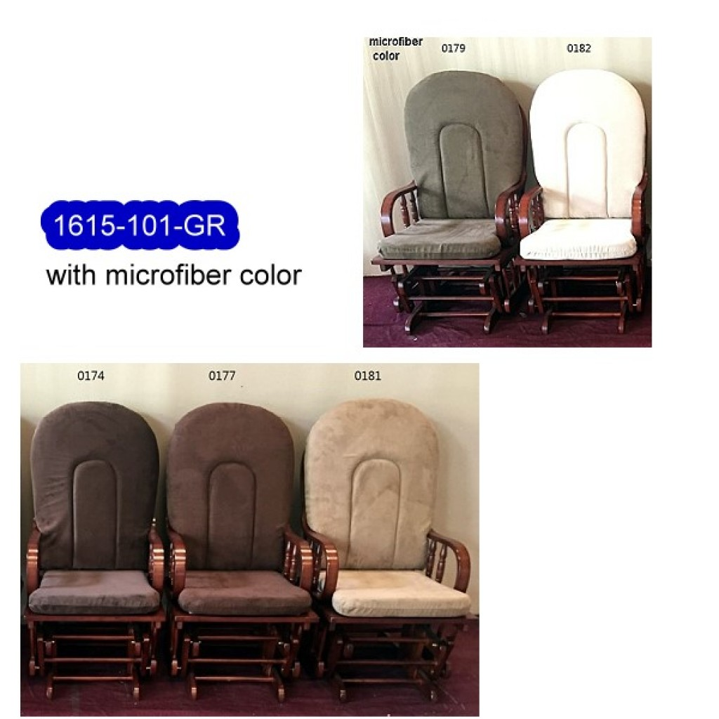 1615-101GR Solid Wood Glider Rocker