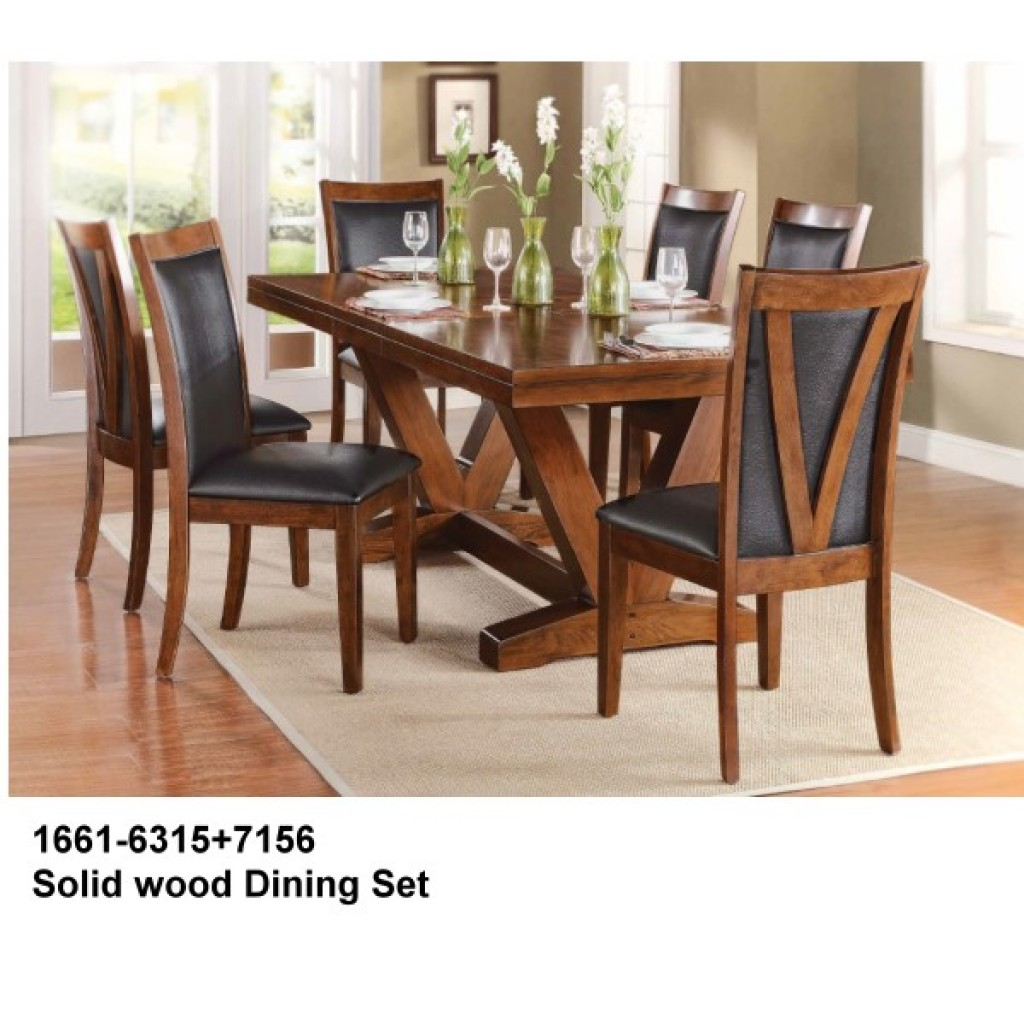 1661-6315+7516 Wooden Dining Set