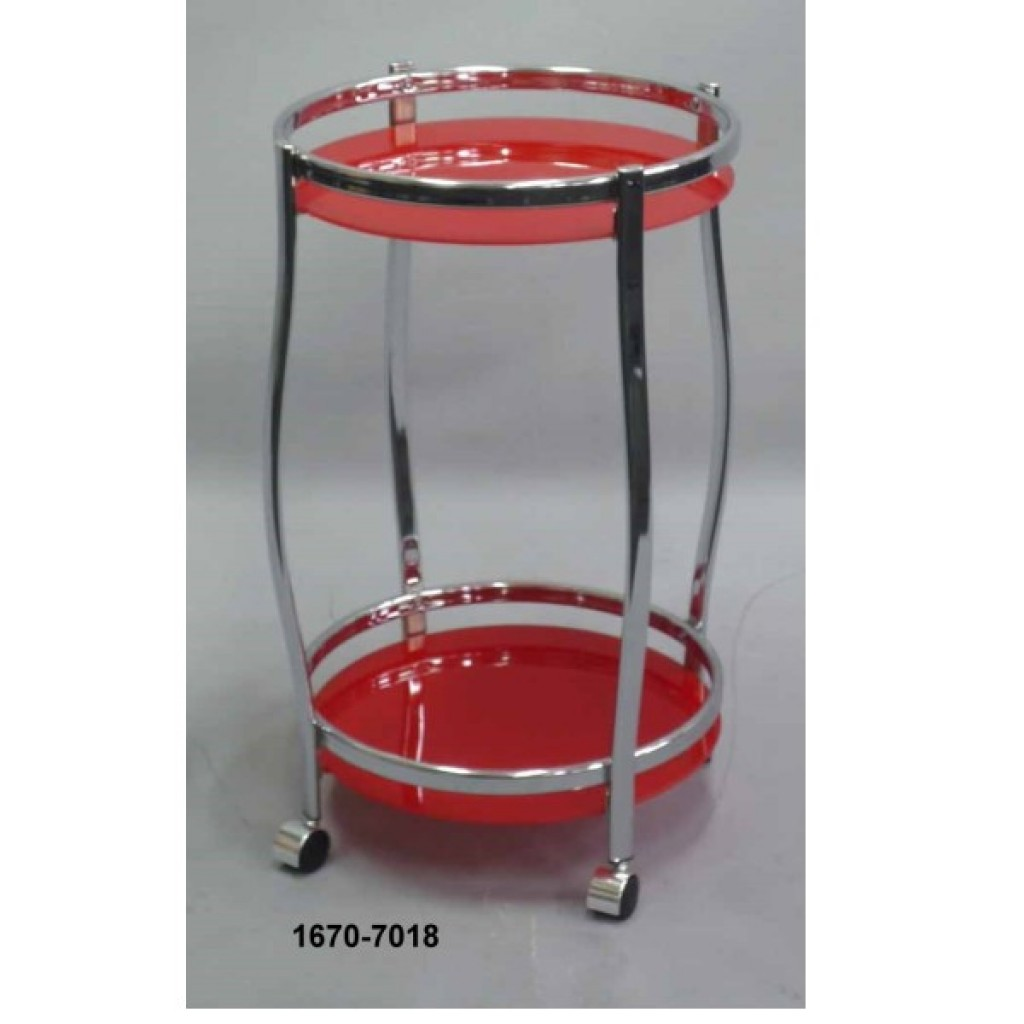1670-7018   METAL TEA TROLLEY