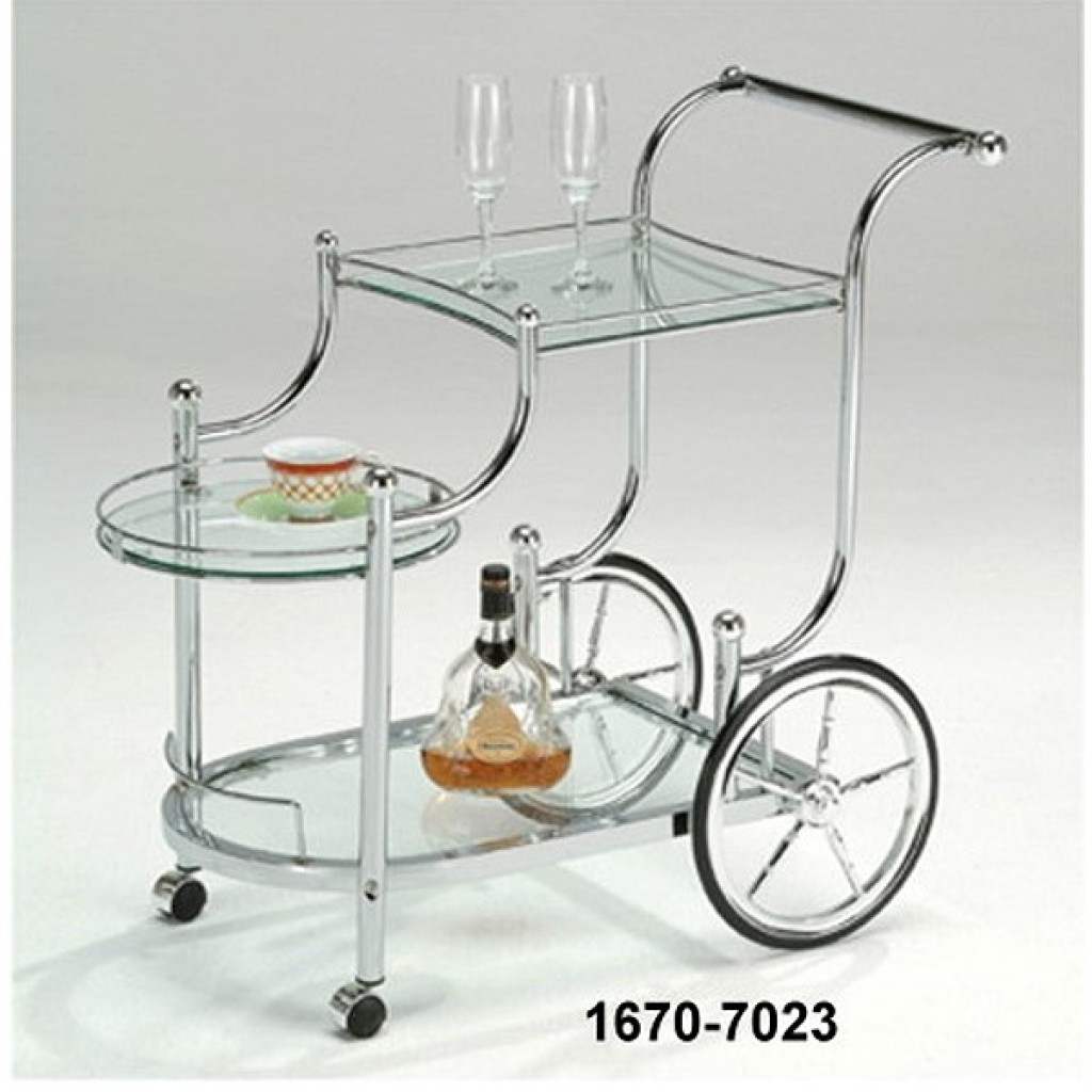 1670-7023 METAL TEA TROLLEY