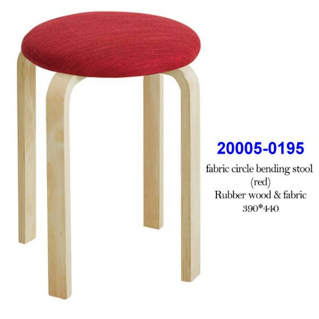 20005-0195 Fabric circle bending stool (red)