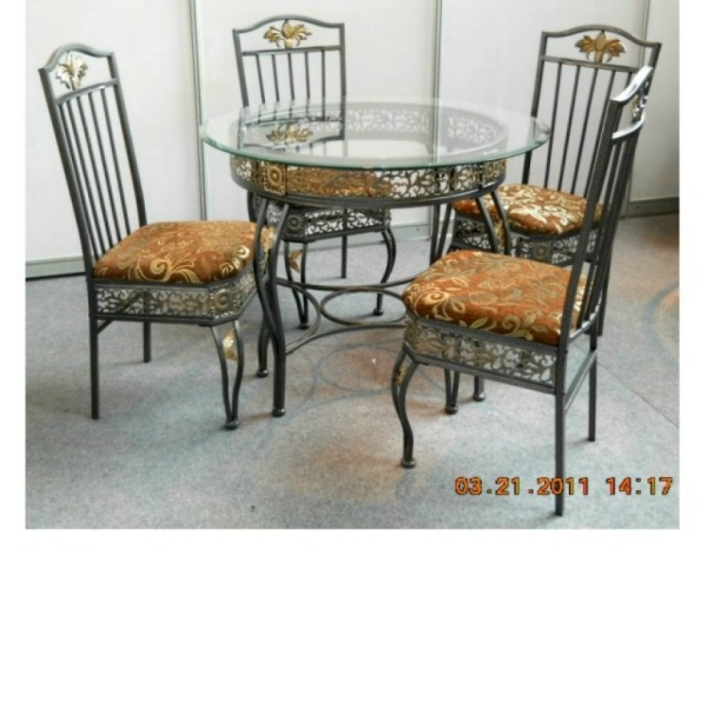 30246-1910-B-4 Wooden/Metal Dining Set