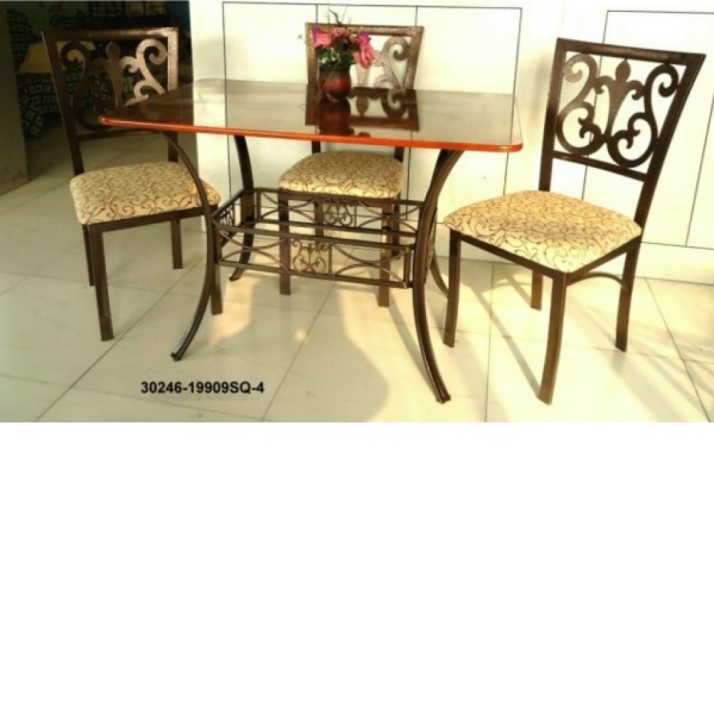 30246-1990-SQ-4 Wooden/Metal Dining Set