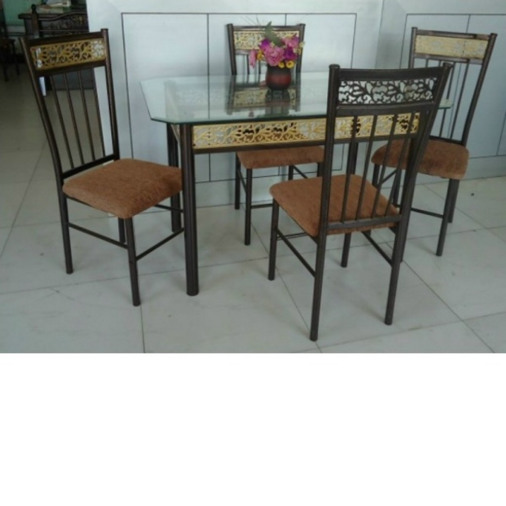 30246-21201-4 Wooden/Metal Dining Set