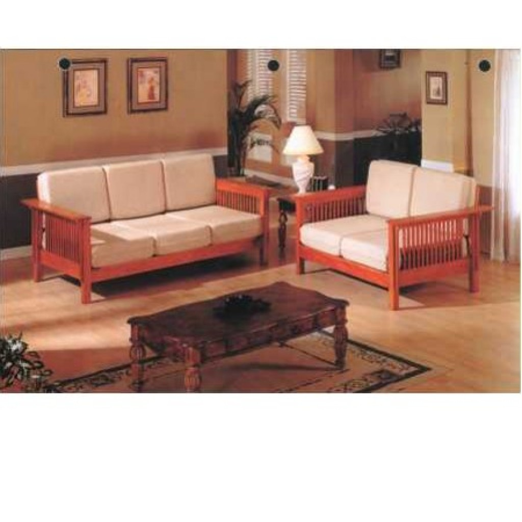 30405-2255&2256 Wooden Sofa Set