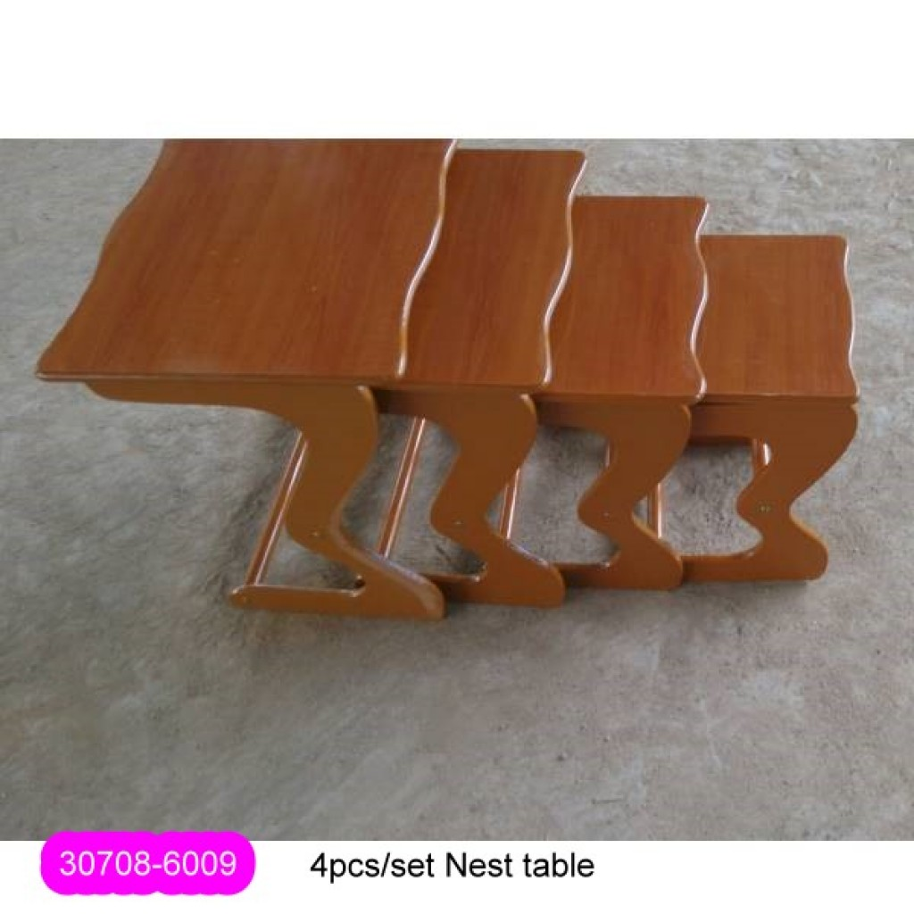 30708-6009 Stock 4pcs/set WOOD NEST COFFEE TABLE