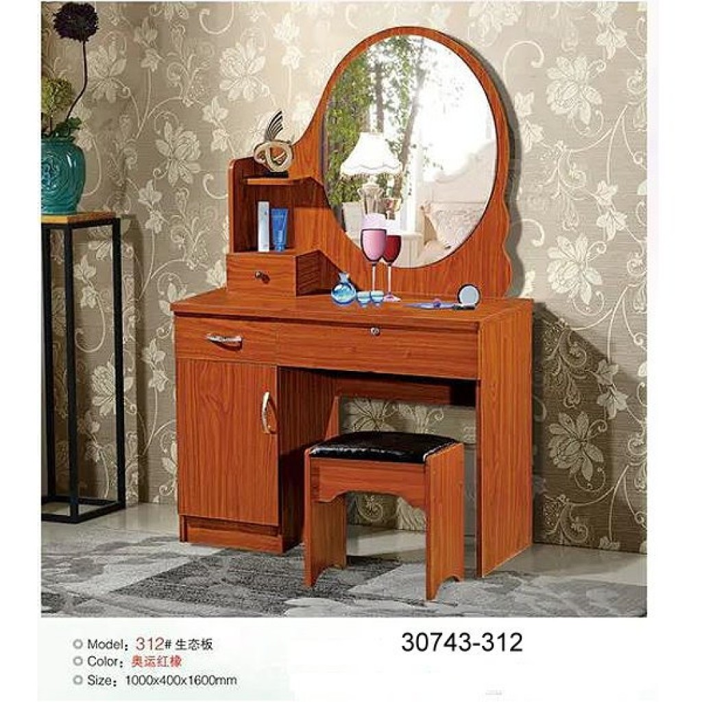 30743-312 Wooden Simple Dresser & stool