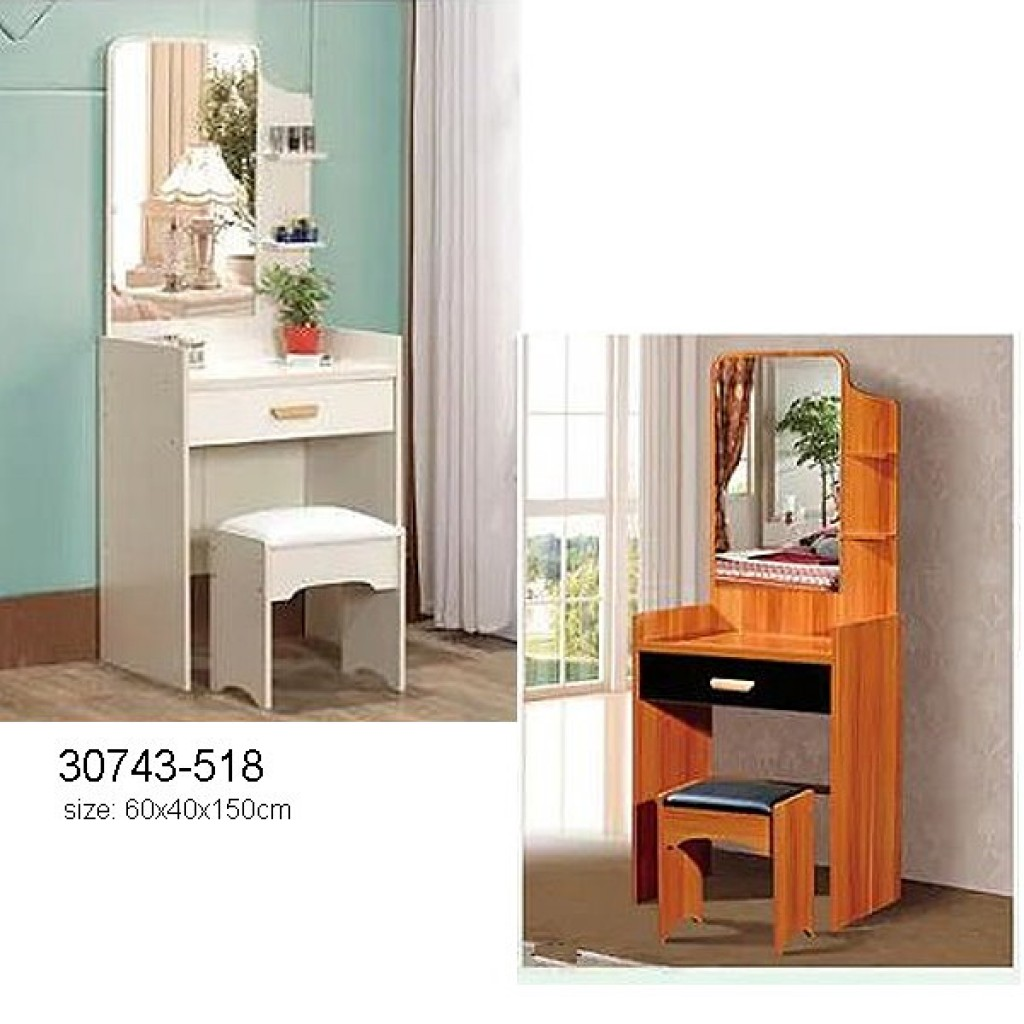 30743-518 Wooden Simple Dresser & stool