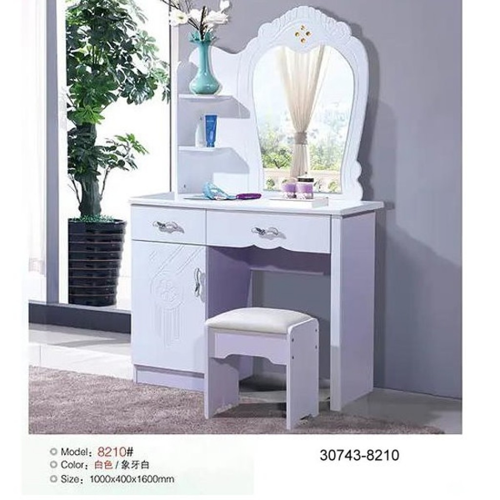 30743-8210 Wooden Simple Dresser & stool