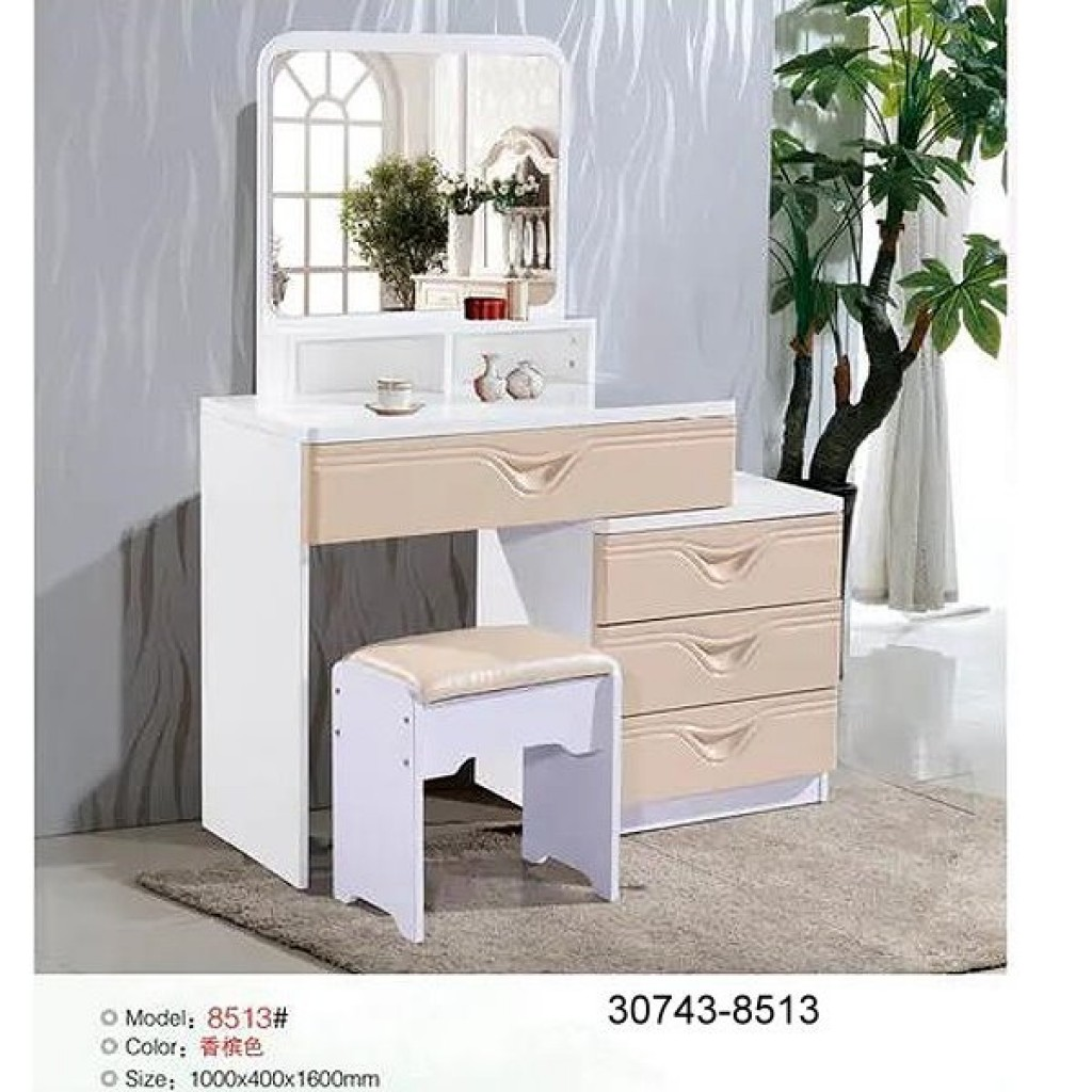 30743-8513 Wooden Simple Dresser & stool