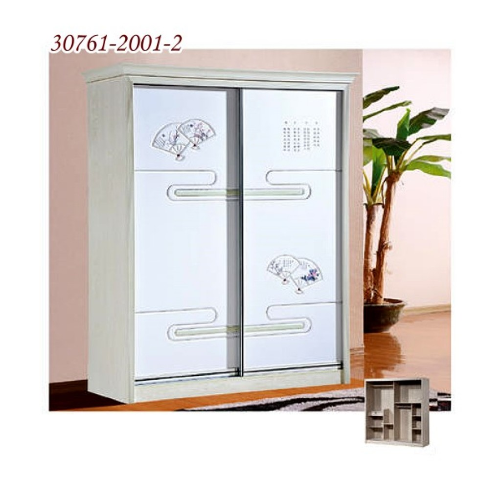 30761-2001-2 Wooden Sliding Door Closet