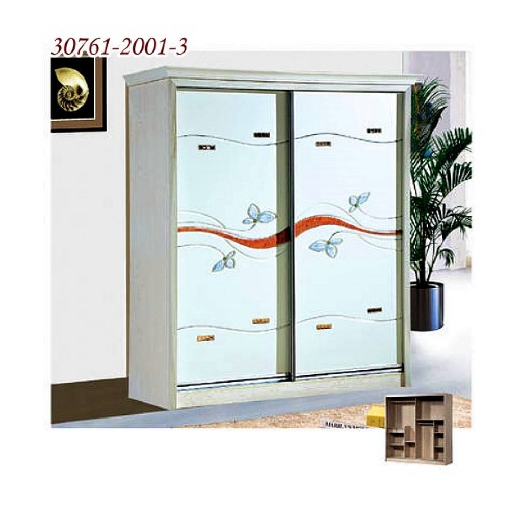 30761-2001-3 Wooden Sliding Door Closet