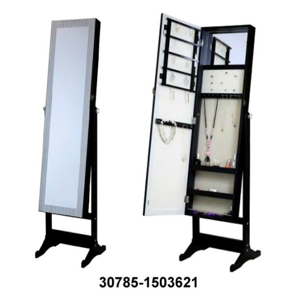 30785-1503621 Mirror Jewelry Cabinet Armoire w Stand Mirror