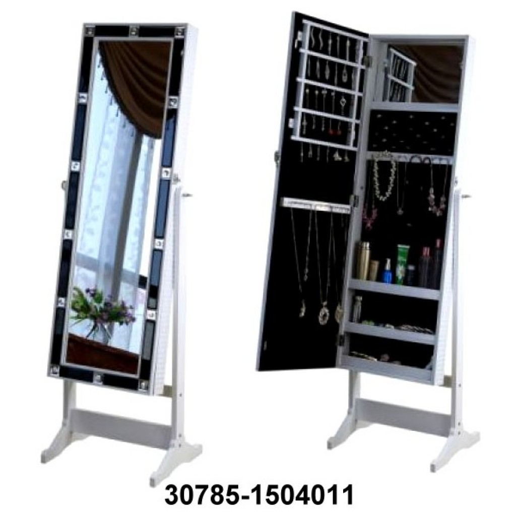 30785-1504011 Mirror Jewelry Cabinet Armoire w Stand Mirror