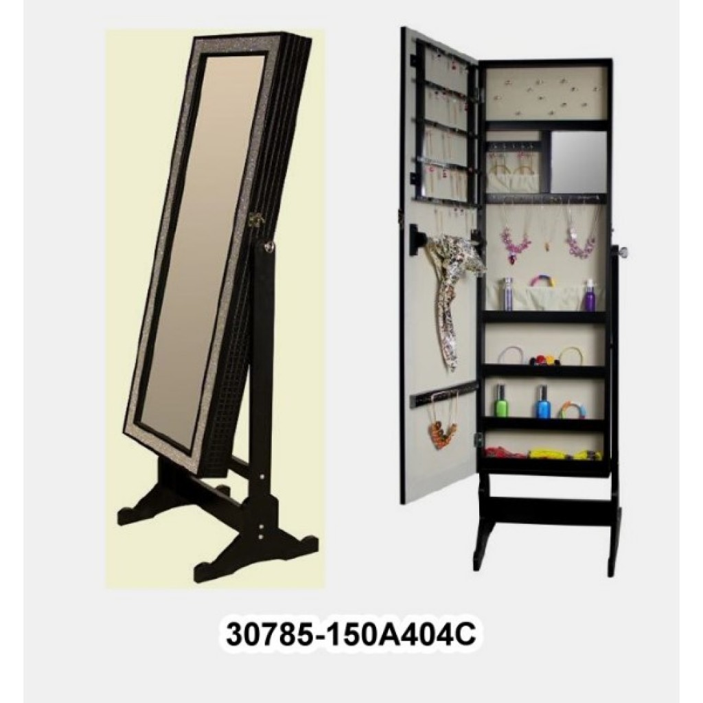 Mirrored Jewelry Cabinet Armoire 30785 150a404c Mirror Jewelry Cabinet Armoire W Stand Mirror