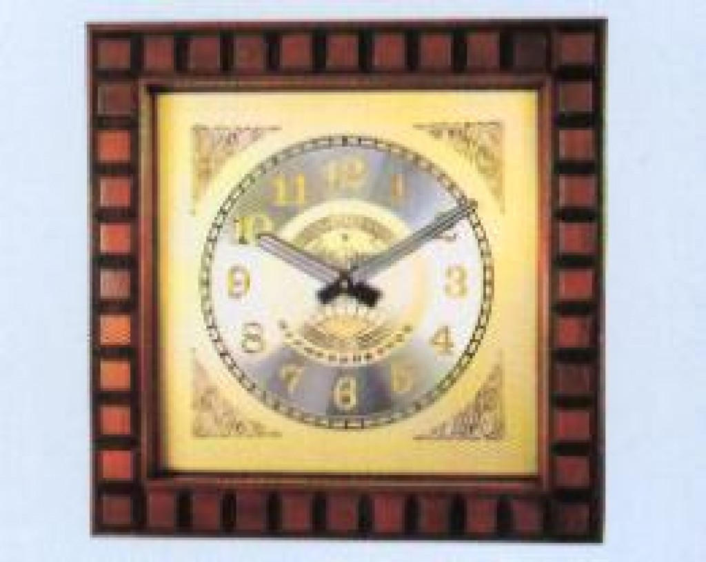 3108-QW9807 Wooden Wall Clock