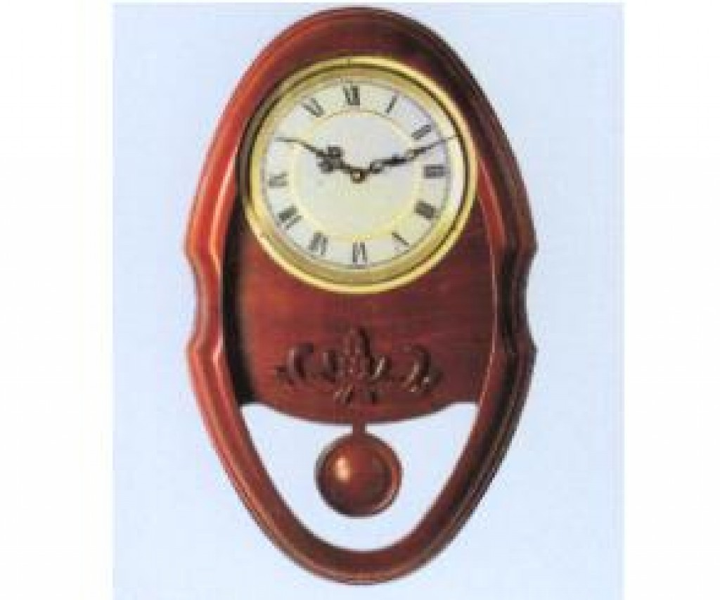 3108-QW9808 Wooden Wall Clock