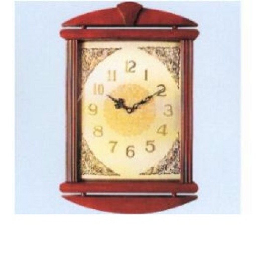 3108-QW9809 Wooden Wall Clock
