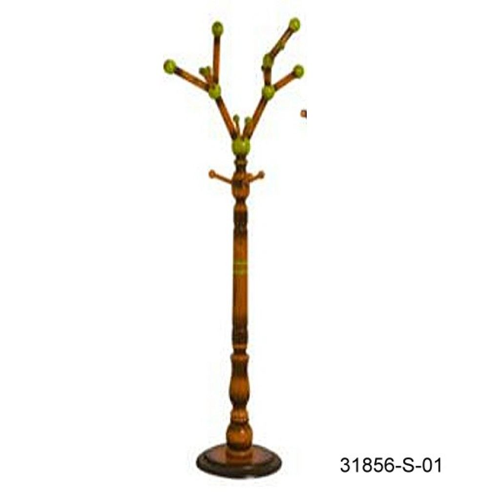 31856-S-01 WOODEN COAT HANGER