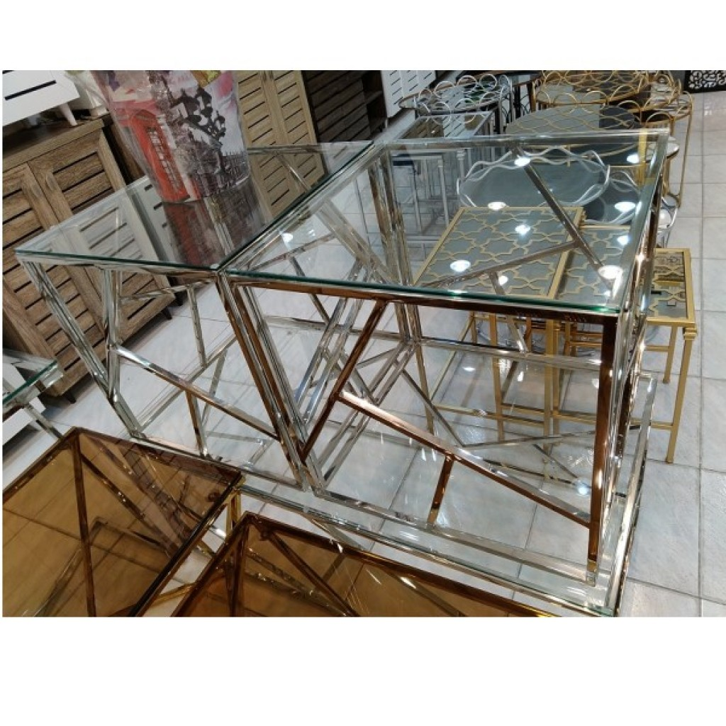 31876-107A  1+2/set Stainless Steel  Coffee  Table