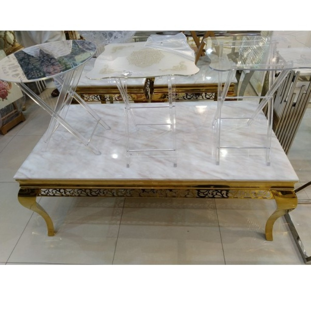 31876-110 1+2/set Stainless Steel  Coffee  Table
