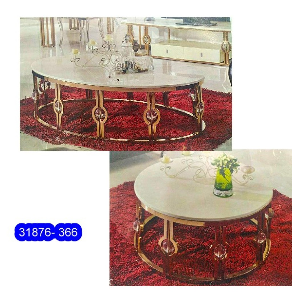 31876-366  1+2/set Stainless Steel  Coffee  Table