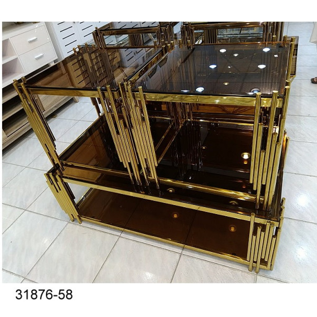 31876-58  1+4/set Stainless coffee table