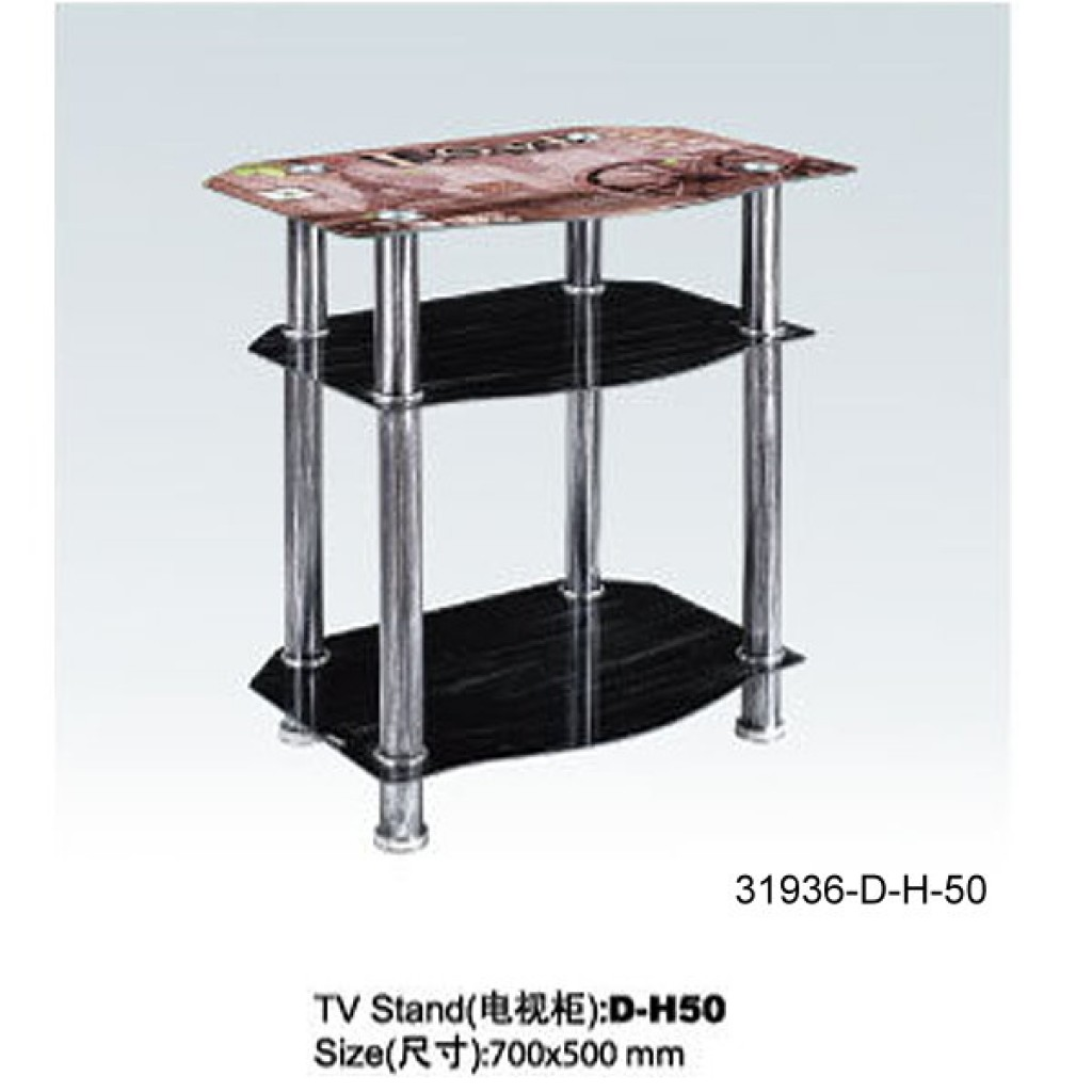 31936-D-H50 3 Tier Glass TV Stand